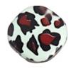 "Resin Irregular Red Flat 28mm 8"" Str Dalmatian (7pcs) Green/Brown"